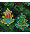 Dimensions® 5.25\u0027\u0027x4.25\u0027\u0027 Tree Ornament Felt Counted Cross Stitch Kit