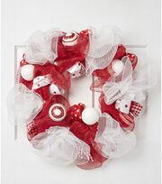 """Blooming Holiday 24"""" Deco Ribbon Wreath, , hi-res"""