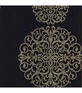 Iman Navy Medallion Wallpaper