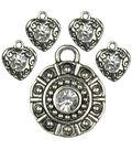 Cousin Jewelry Basics Rhinestone Accent Set 5 pcs-Silver