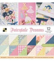 "DCWV 36 Pack 12""x12"" Premium Printed Cardstock Stack-Fairytale, , hi-res"