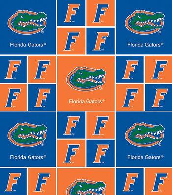 "University of Florida Gators Cotton Fabric 43""-Block"