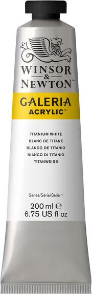 Winsor & Newton™ 6.75 fl. oz. Galeria Acrylic Tube-Titanium White, , hi-res