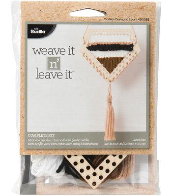 Bucilla® 4.25''x3.75'' Weave It N' Leave It Modern Diamond Loom Kit