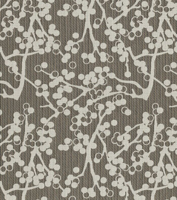 """Crypton Upholstery Fabric 54""""-Cherries-Charcoal"""