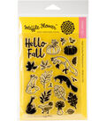 Waffle Flower Crafts 21 pk Clear Stamps 4\u0027\u0027x6\u0027\u0027-Hello Fall