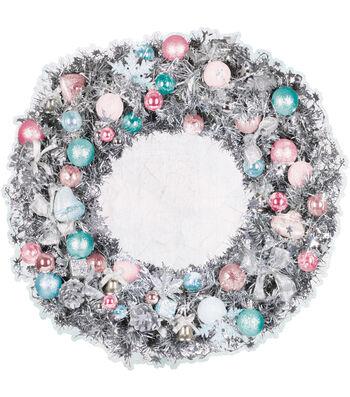 Kaisercraft Silver Bells 12''x12'' Die-Cut Cardstock-Wreath