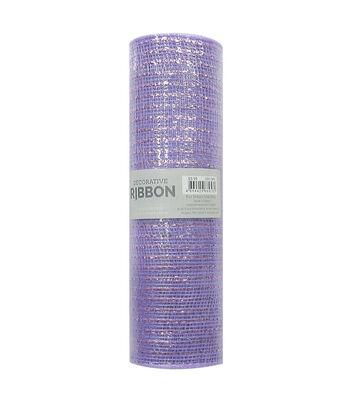Decorative Ribbon Metallic Deco Mesh 10''x10 yds-Lavender