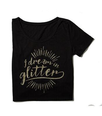 T-Shirt L/XL-I Dream in Glitter on Black
