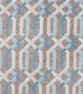 Luxe Fleece Fabric 59\u0022-Spa Lattice Grey Heather