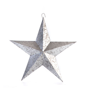 Americana Patriotic 12'' Metal Galvanized Star