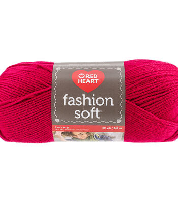 Red Heart Fashion Soft Yarn-Hot Pink
