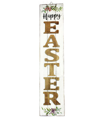 Easter Wood Vertical Wall Decor-Happy Easter