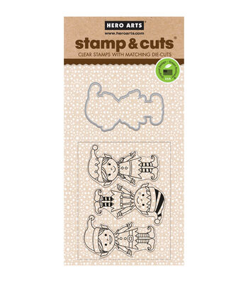 Hero Arts® Santa's Elves Stamp & Cuts