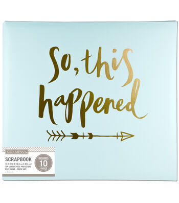 K&Company 12''x12'' Scrapbook-So This Happened Foil