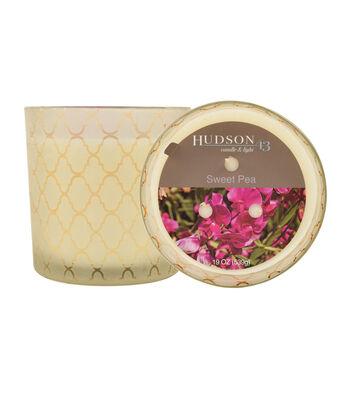 Hudson 43™ Candle & Light Collection 19oz Patterned Jar Sweet Pea