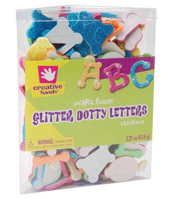 Fibrecraft Glitter Foam Stickers-Dotty Alphabet