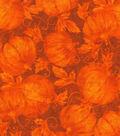 Harvest Cotton Fabric 43\u0022-Harvest Pumpkins Glitter