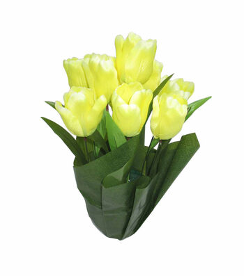 Blooming Spring 16'' Potted Tulip-Yellow