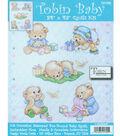 Baby Bears Quilt Stamped Cross Stitch Kit-34\u0022X43\u0022