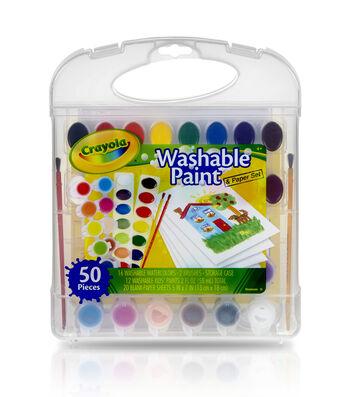 Crayola Washable Paint & Paper Set 50pc