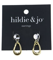 hildie & jo™ Silver & Gold Earrings, , hi-res
