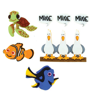 Dress It Up Licensed Embellishments- Disney® Finding Nemo