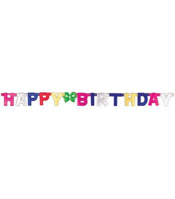 Jointed Banner 4.25X4.75 Feet-Happy Birthday