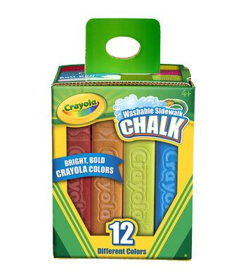 Crayola Sidewalk Chalk 12/Pkg-Assorted Colors