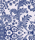 Oilcloth- Eden Paisley Navy Blue