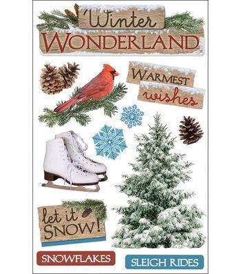 Paper House 3D Stickers-Winter Wonderland