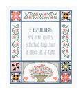 Families Are Like Quilts Counted Cross Stitch Kit-13\u0022x15\u0022