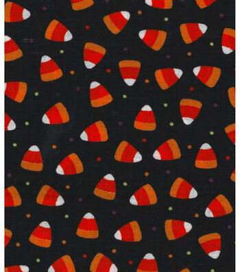 "Halloween Cotton Fabric 43""-Candy Corn Dot"