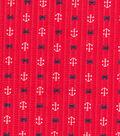 Tutti Fruitti Ahoy Embellished Fabric 44\u0027\u0027-Anchors & Crabs on Pink