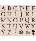 Hero Arts Rubber Stamp Set-Garamond Letters