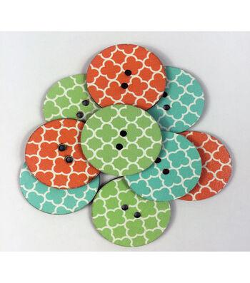"""Organic Elements Wood Buttons 1.25""""-Quatrefoil"""