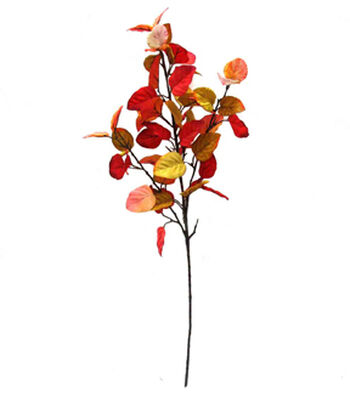 Blooming Autumn 32'' Eucalyptus Leaves Spray-Red