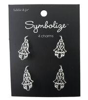 hildie & jo™ Symbolize 4 Pack Hamsa Silver Charms, , hi-res