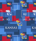University of Kansas Jayhawks Cotton Fabric 43\u0027\u0027-Modern Block