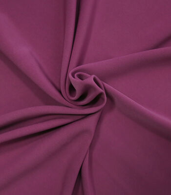"""Silky Solid Stretch Crepe Fabric 58""""-Magenta"""