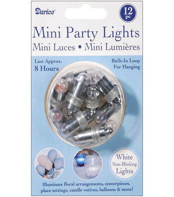 Darice® 12pk Non-Blinking Mini Party Lights-White