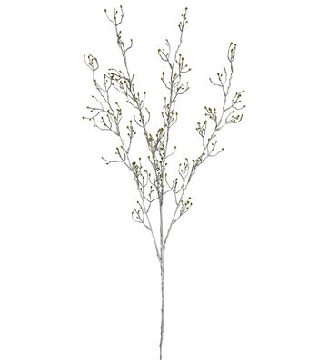 Blooming Holiday Christmas 34'' Glitter Bud Branch Spray-Gold