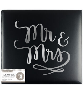 K&Company 12''x12'' Wedding Scrapbook-Mr. And Mrs.