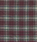 Flannel Shirting Cotton Burgandy Green