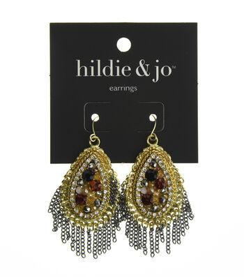hildie & jo™ Teardrop Gold & Silver Earrings-Beads & Crystals
