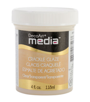 DecoArt Media Crackle Glaze 4oz-Clear
