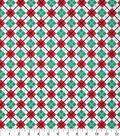 Christmas Cotton Fabric 43\u0022-Diamond Plaid