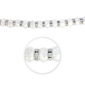 """Blue Moon Beads 7"""" Crystal Strand, Rondelles with Metal Spacers, Clear"""