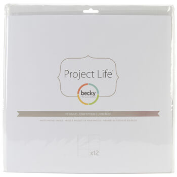 Project Life Photo Pocket Pages 12/Pkg-Design C