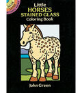 Dover Publications-Little Horses Stained Glass Coloring Book